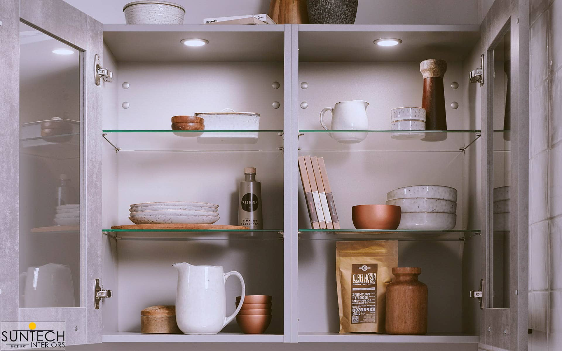 Things You Should Never Store In Overhead Cabinets